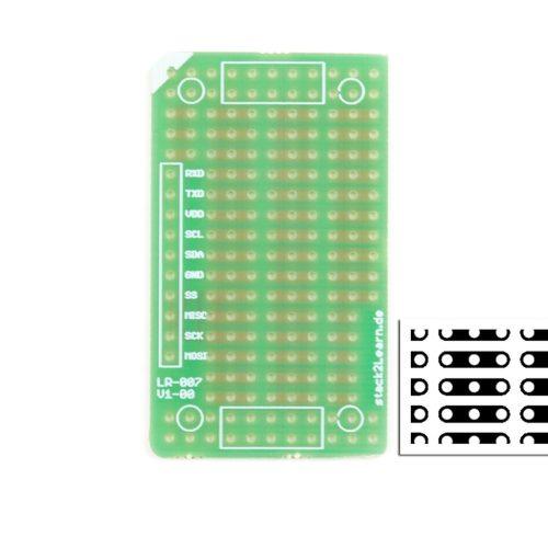 stack2Learn Punkt-Streifenrasterplatine, horizontal, 2,54RM, ein