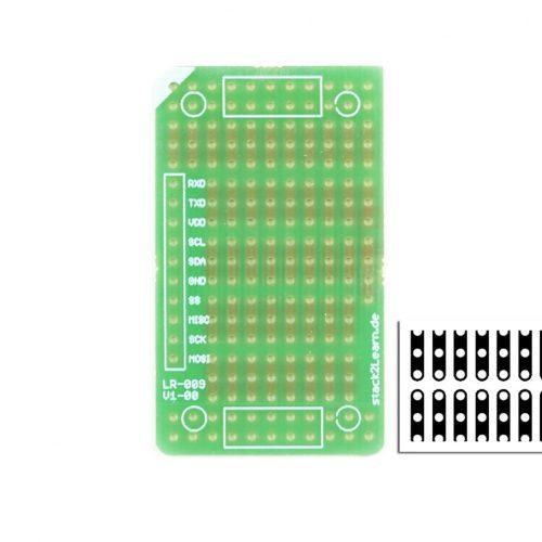 stack2Learn Punkt-Streifenrasterplatine, vertikal, 2,54RM, einfa