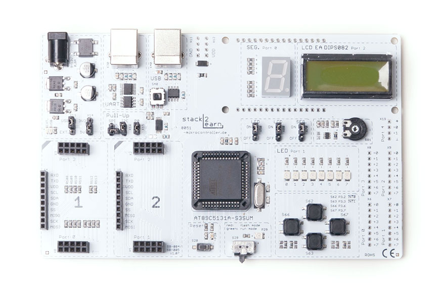 stack2Learn SB-004 V1.07: 8051 Mikrocontrollerboard mit AT89C513