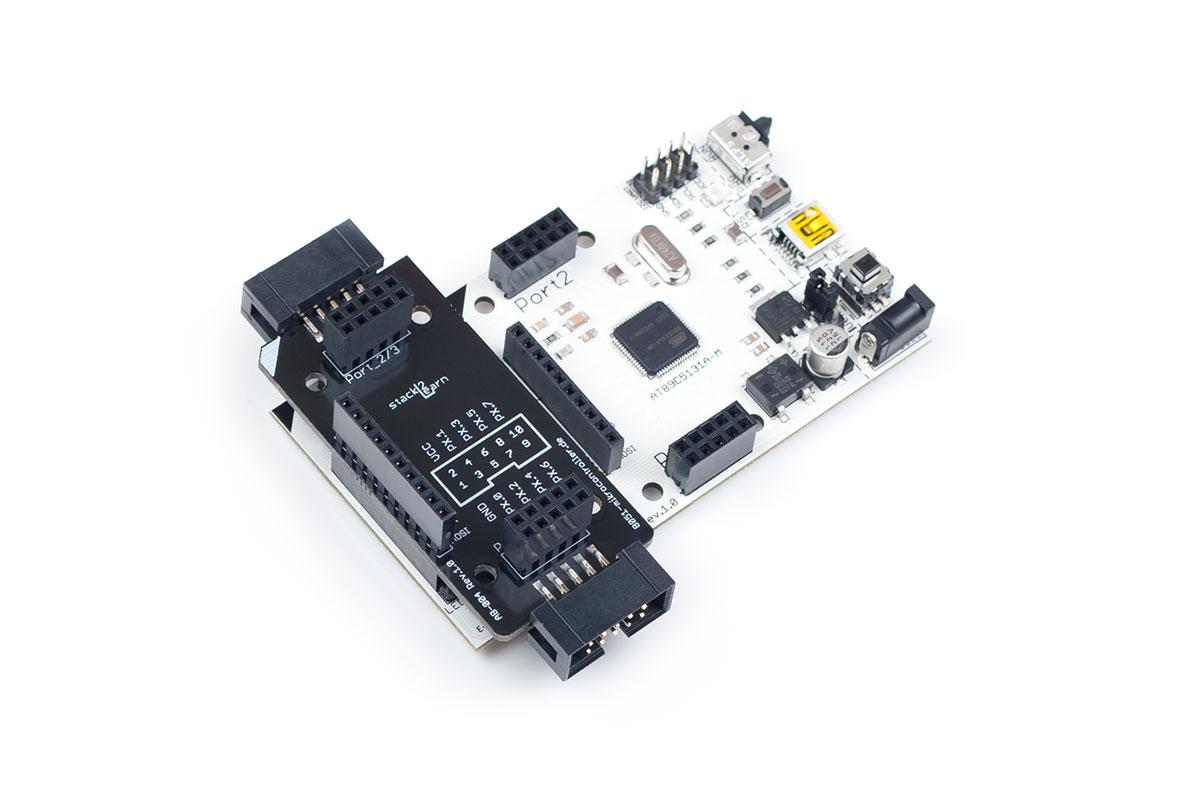 AB-004 V1.00: Adapterboard mit Wannenstecker