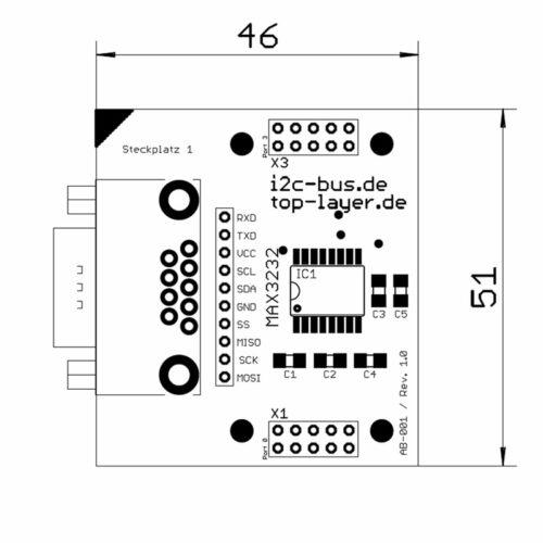 Pegelkonverter RS232 zu TTL