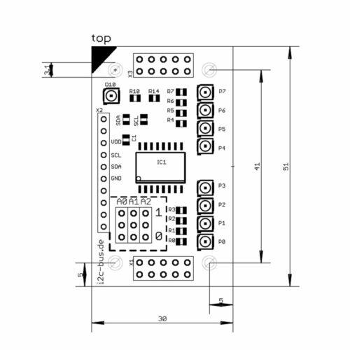 stack2Learn I2C-001 I2C Portexpander mit PCF8574