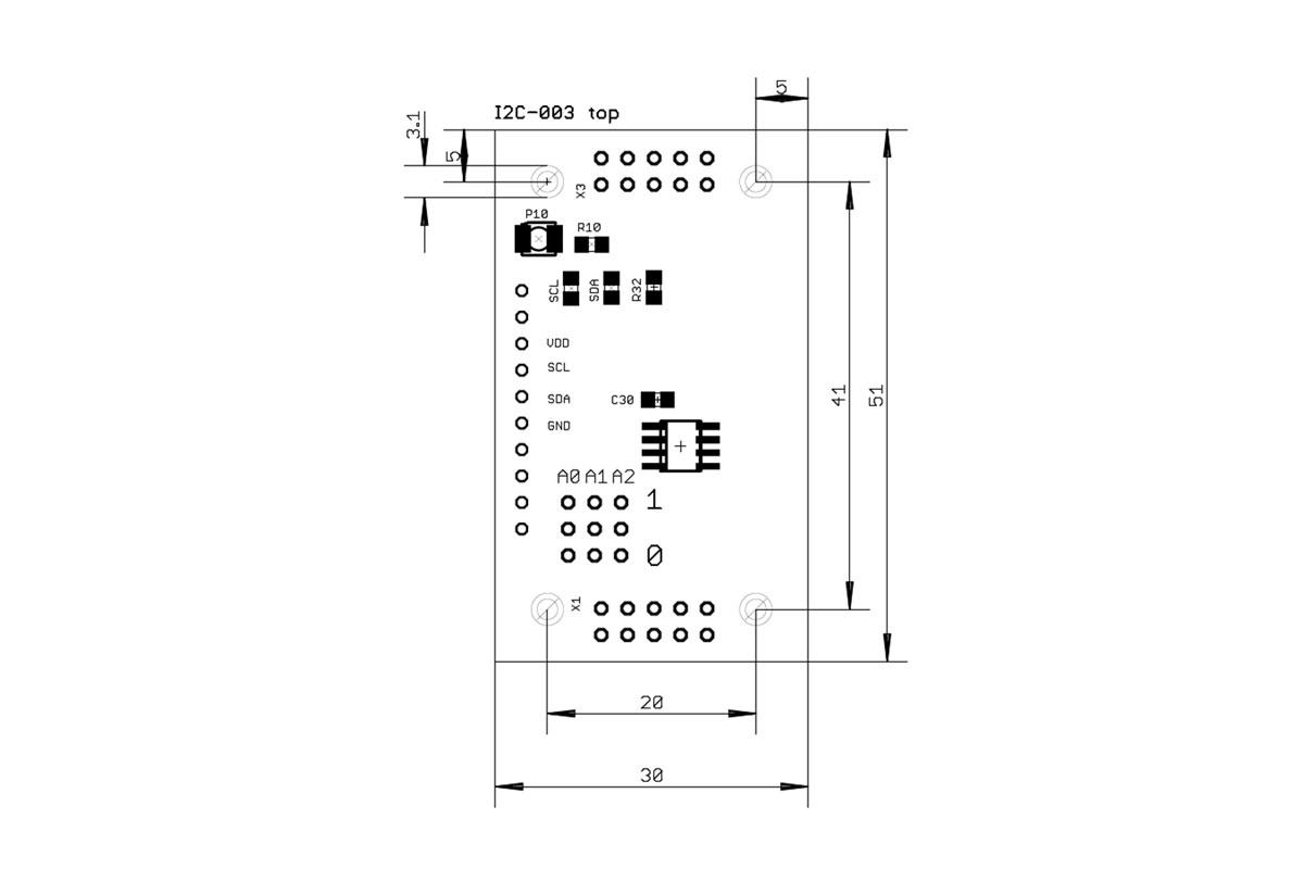 I2C-003 Bestückungsplan