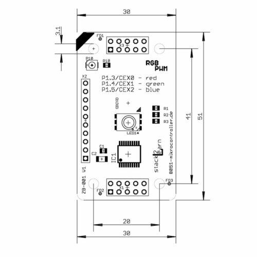 ZB-001 V1.00: RGB LED Board