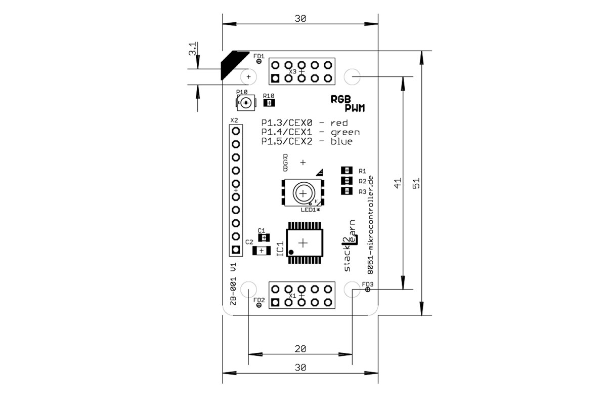ZB-001 V1.00: RGB LED Board