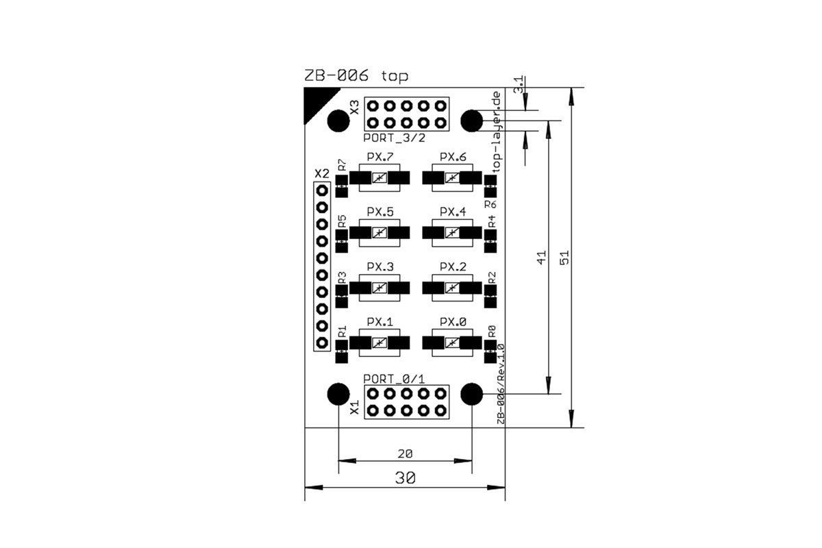 stack2Learn ZB-006 V1.00: 8 x Tasten Board